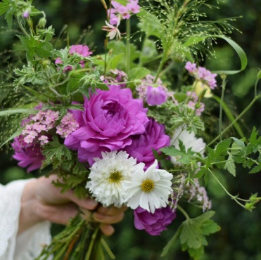 Garden Gathered Wedding Flowers, the natural bridal bouquet of British Flowers