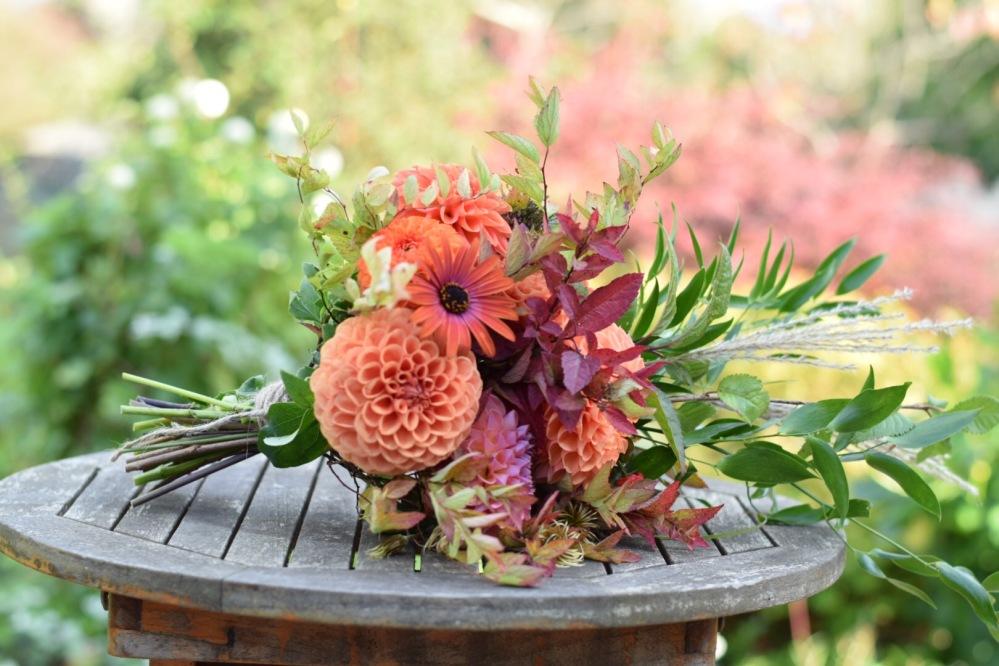 Bridal Bouquet of Warm Autumn Tones