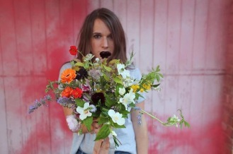 Bloom and Burn using Seasonal Wedding Flowers from Swan Cottage, British Spring Flowers
