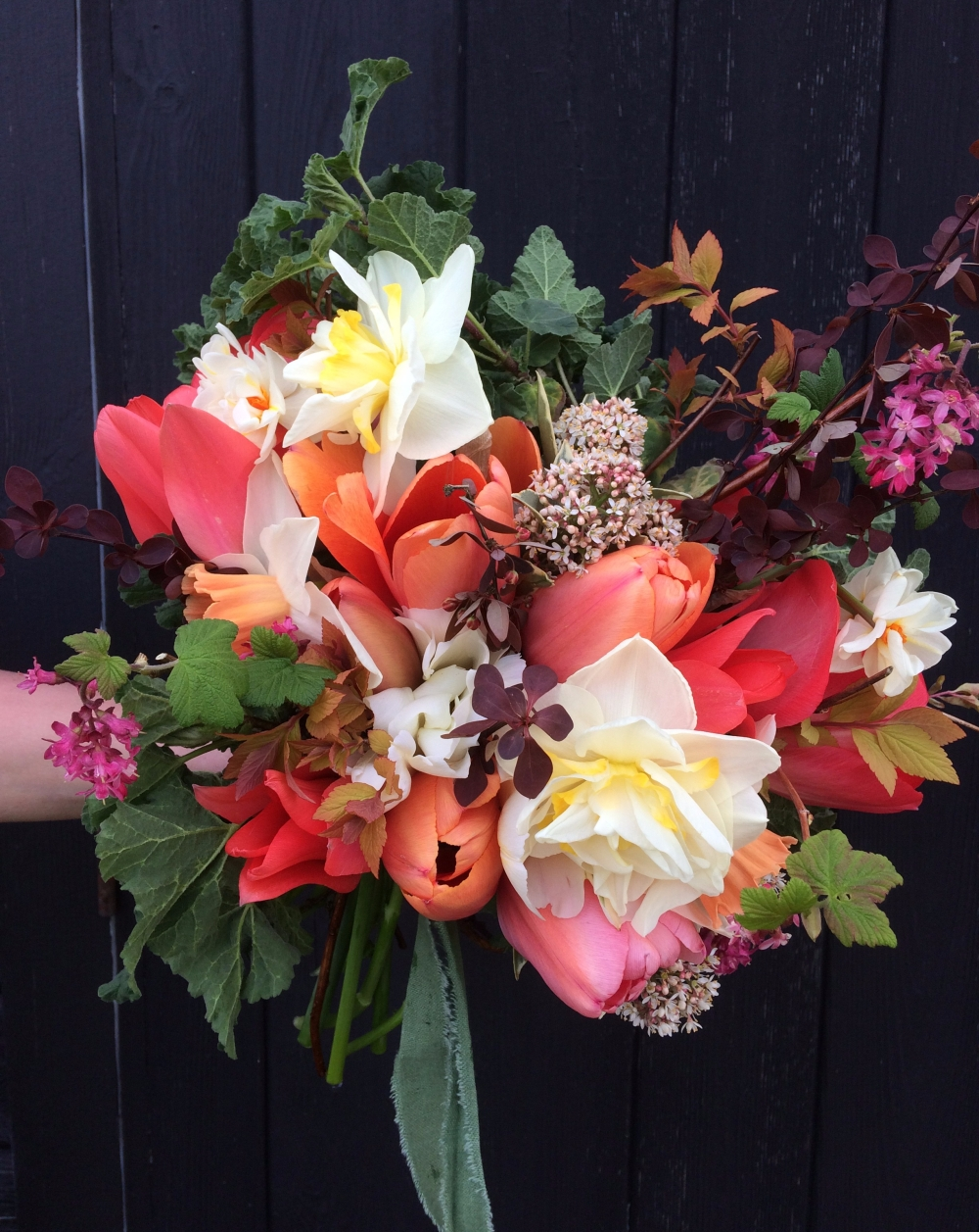 Exciting Fresh Spring Seasonal Flowers, 100% British 100% Swan Cottage Flowers (Spring Wedding Flowers, Bridal Bouquet)