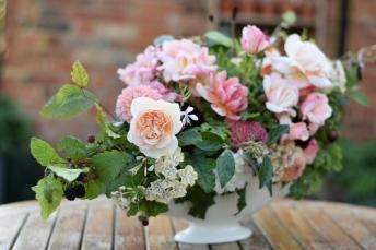 Garden gathered flower arrangement