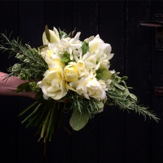 Spring Wedding Bouquet arranged by Lois Golding