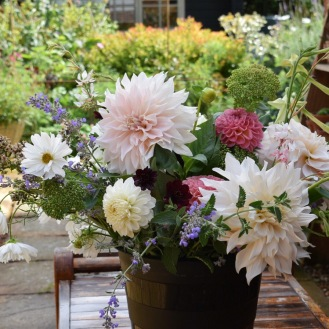 Wedding Flowers. This is a Bucket of British Flowers, 60 stems of mixed filler and prime blooms