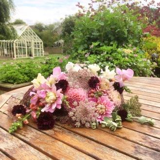 Seasonal Garden Gathered Natural Flowers, Summer at Swan Cottage Flower Farm