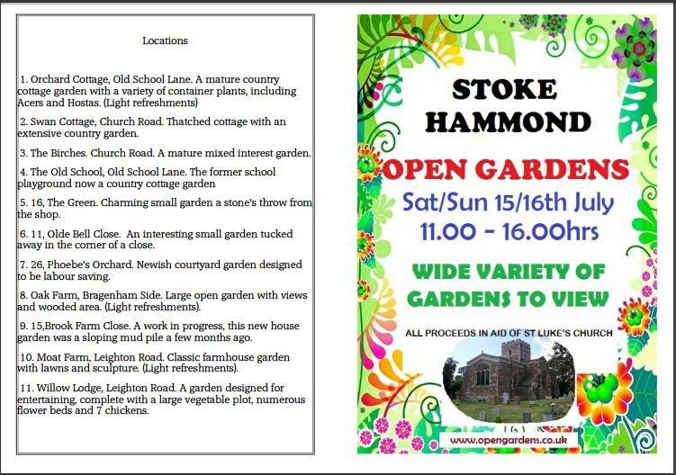 Stoke Hammond Open Gardens Information, Swan Cottage Flowers, British Seasonal Flowers