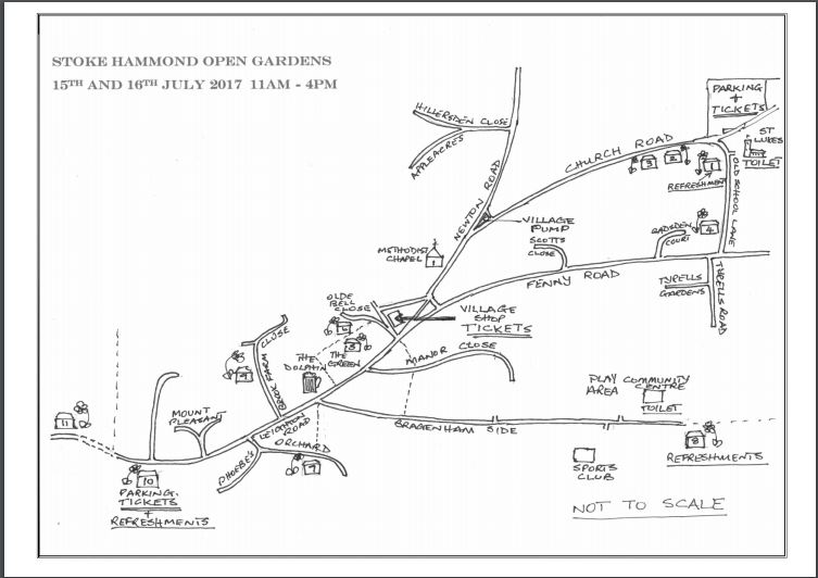 Stoke Hammond Open Gardens Map, Swan Cottage Flowers, British Seasonal Flowers