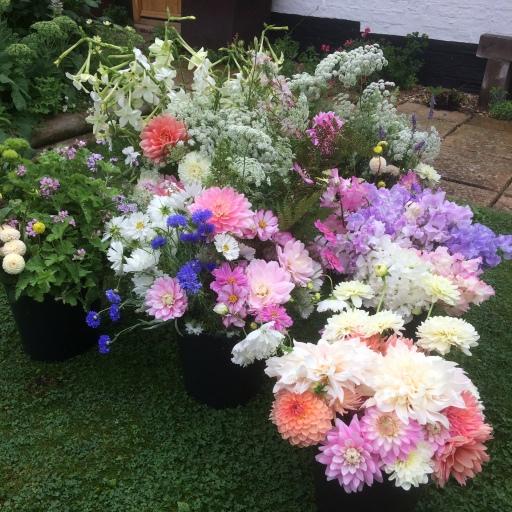 5 Buckets of Seasonal Wedding Flowers