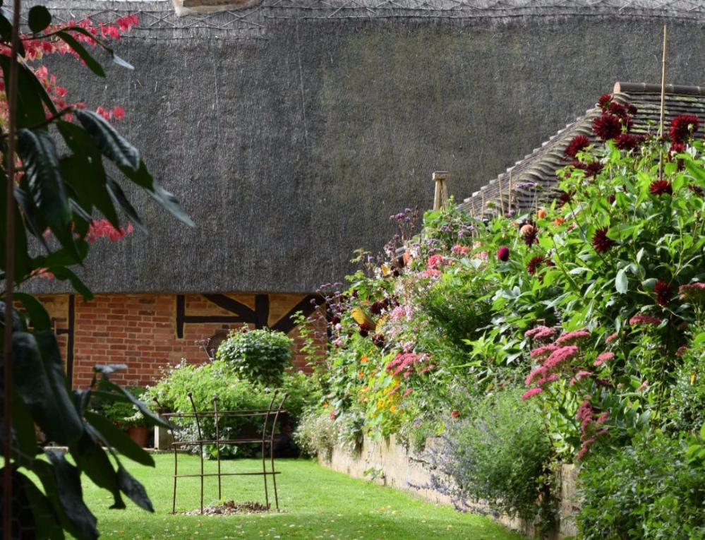 Swan Cottage Wedding Flowers, Husband and Wife growing romantic English country Garden flowers in Buckinghamshire, complete with a 16th Century Thatched Cottage.....
