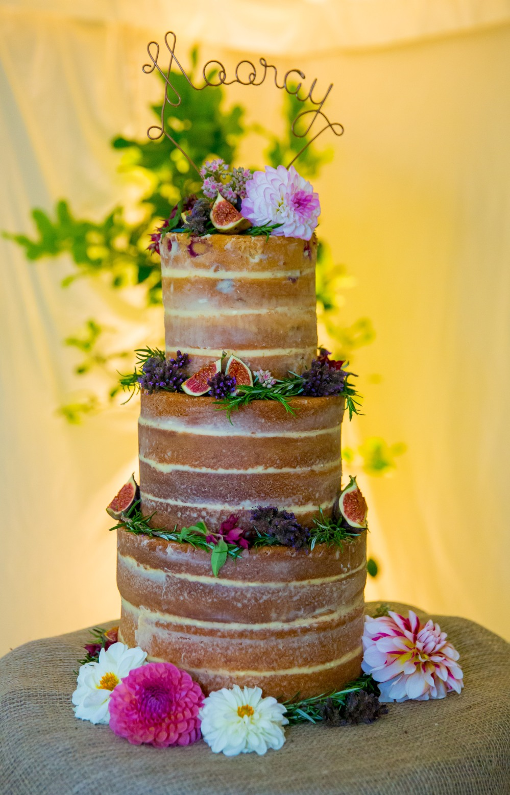 The Wedding Cake was made by Bridesmaid Sarah co-founder of Doggart and Squash