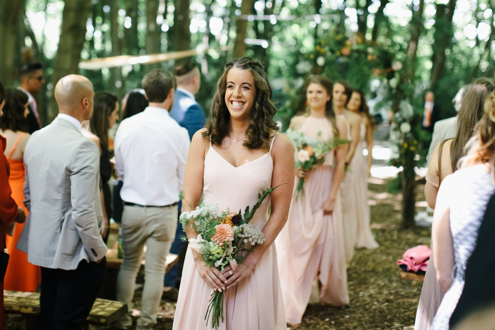 Pretty maids all in a Row, Real DIY Weddings, Bridesmaids Flowers