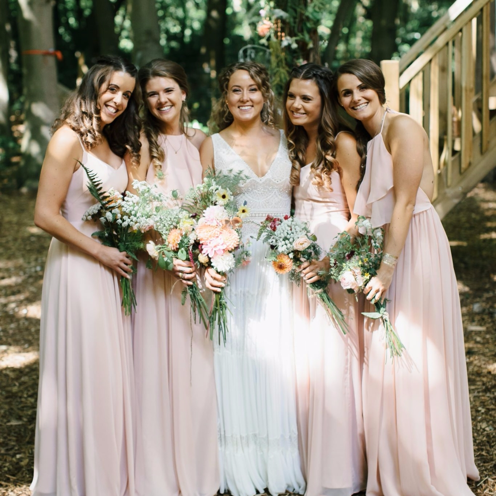 DIY Wedding Flowers, Bridal and Bridesmaids Bouquets, Real Weddings