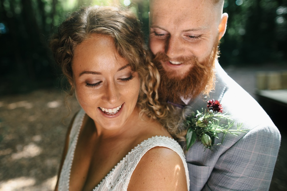 Real DIY Weddings, the Bride and Groom, Look at that stunning handmade buttonhole!