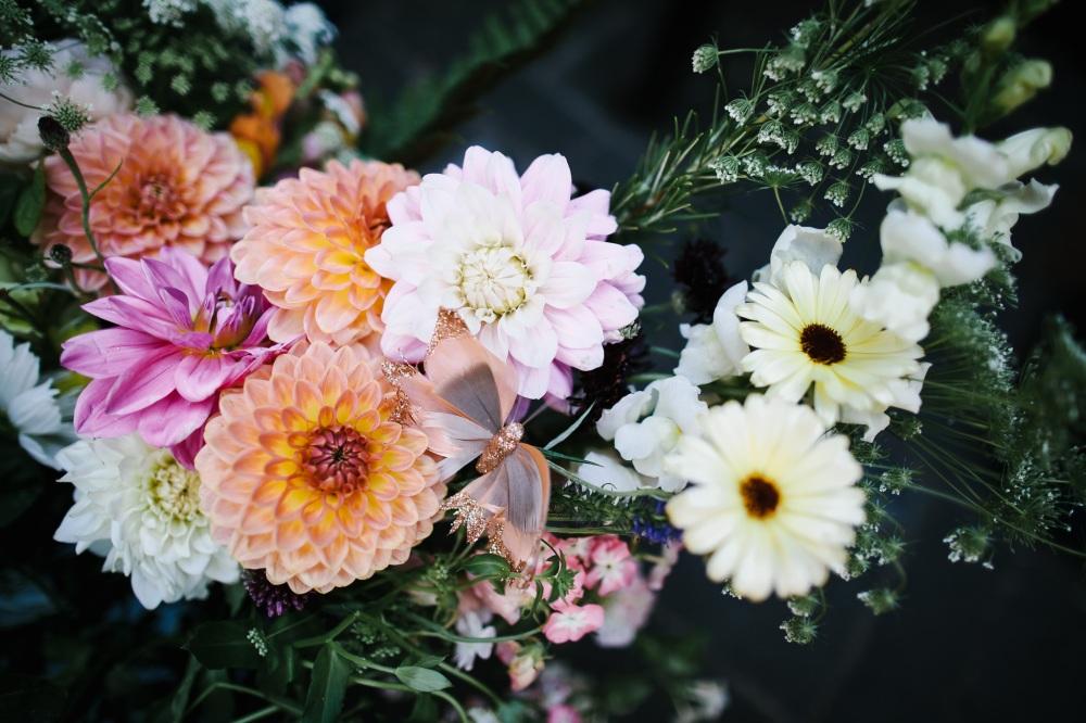 Natural Seasonal British Wedding Flowers, Bridal Bouquet