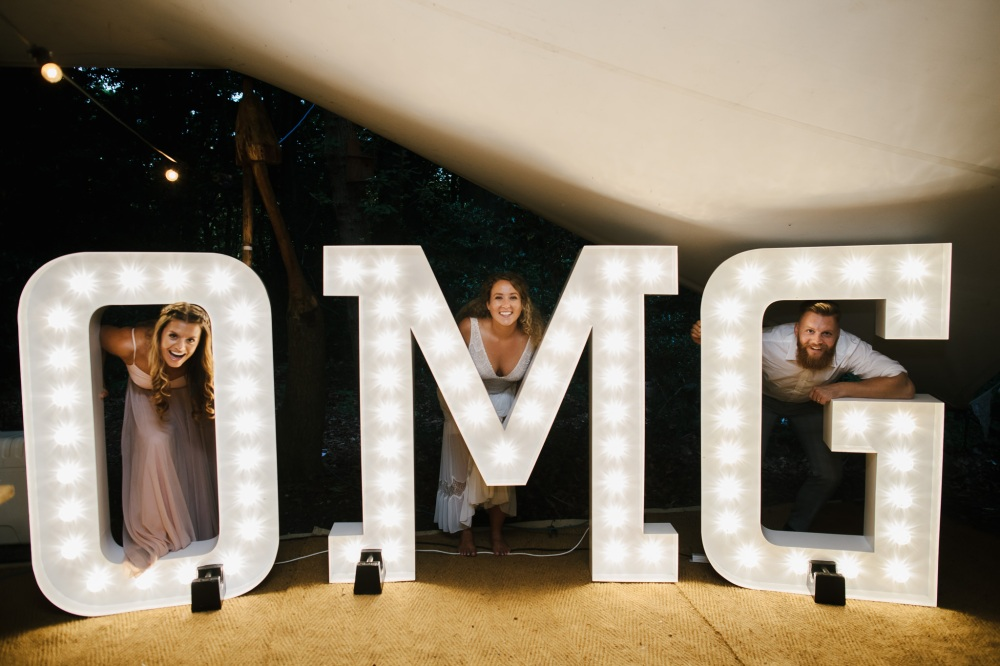 Claire and Tom's OMG fromBespoke Light Up Letters