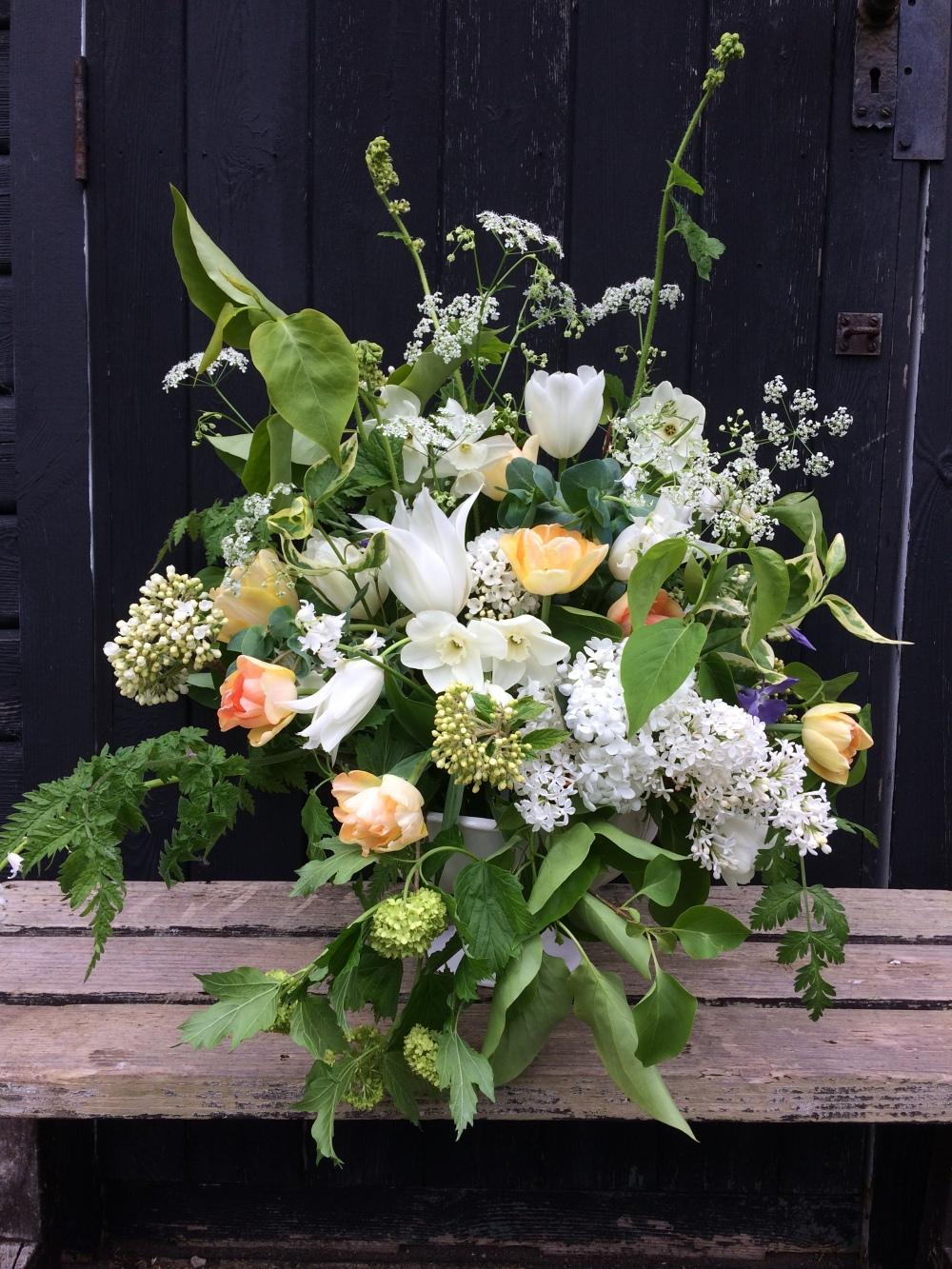 Royal Wedding Flowers, Blush Seasonal Wedding Flowers, Natural May Flowers locally grown in Buckinghamshire