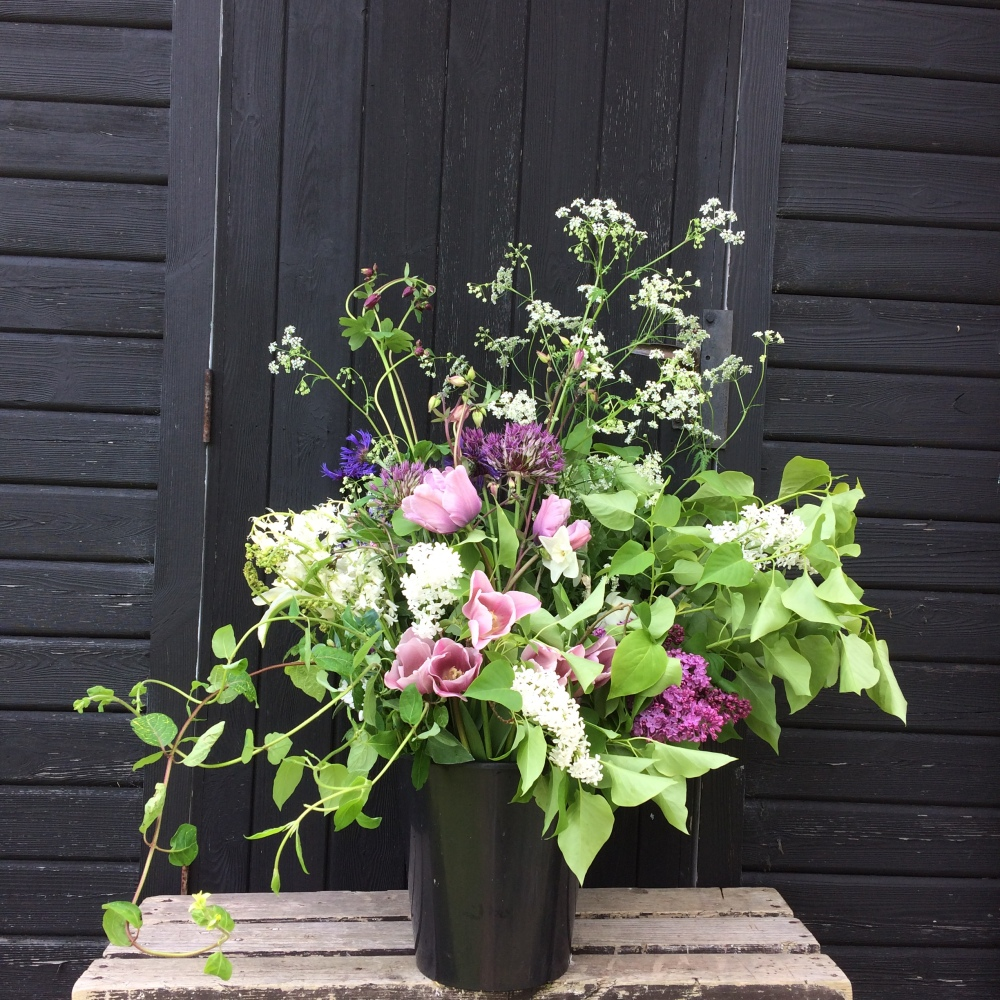 A bucket of Great British Flowers, hassle free and up to a week fresher than imported blooms, each order is picked especially for your Wedding or Event