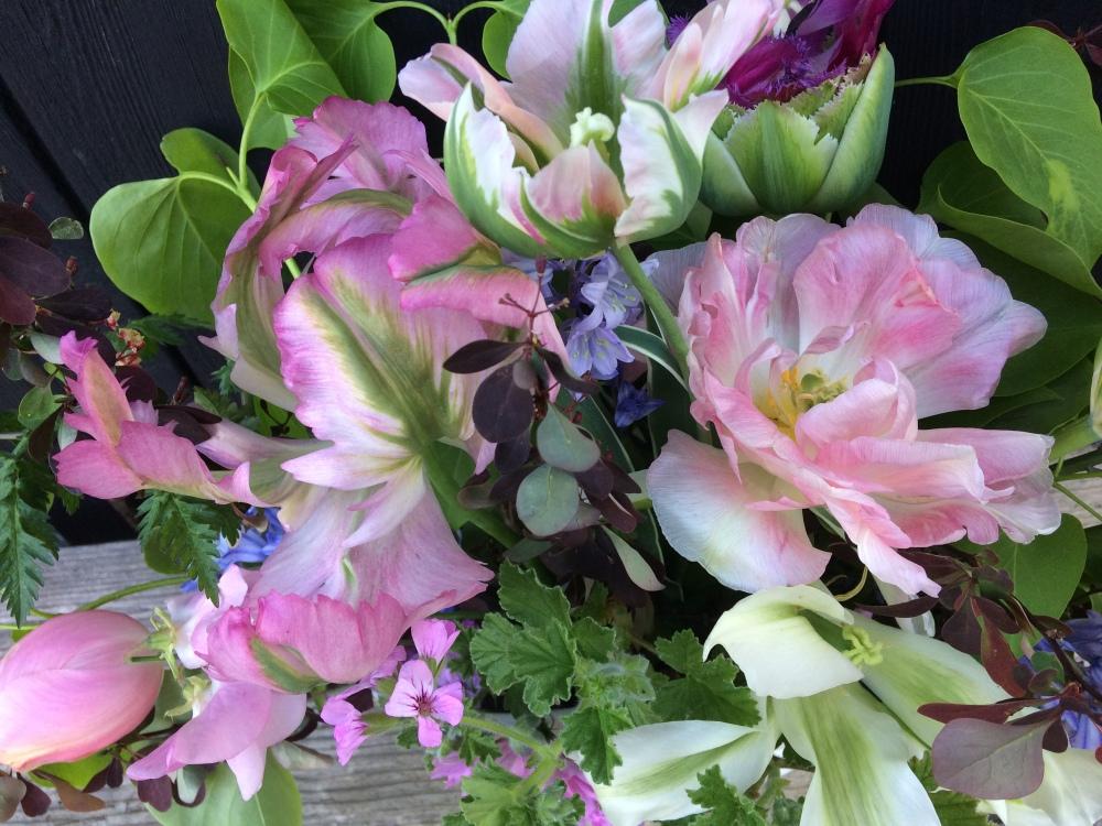 Pink Spring Wedding Flowers