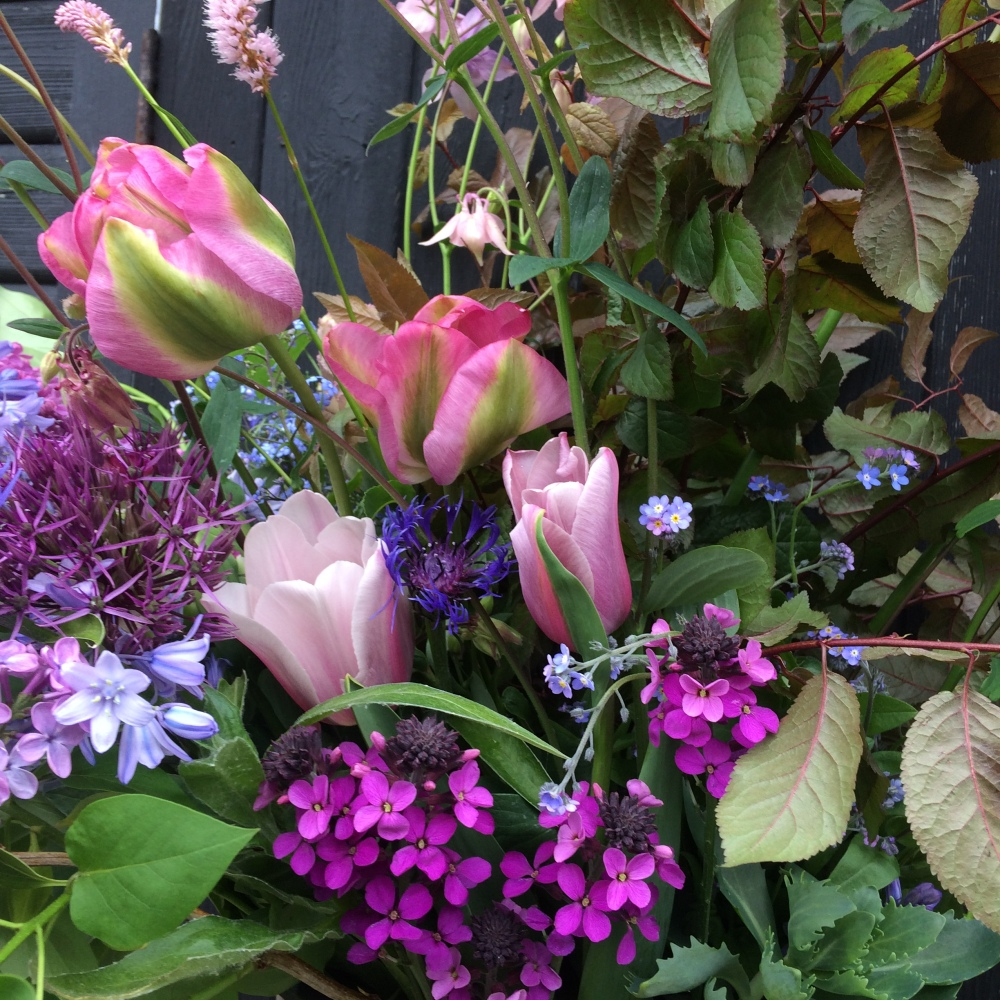 British Flowers are more varied, stems selected individually not sold as bulk wholesale wraps