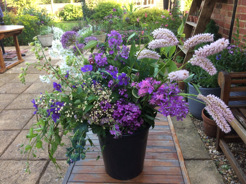 An overflowing DIY Bucket of Wedding Flowers from Swan Cottage Flower farm in Buckinghamshire or the Bedfordshire border, near Milton Keynes, Tring, Aylesbury, Leighton Buzzard, Hitchin, Flitwick, Marlow, Beaconsfield, Northampton, St Albans, Hemel Hempstead