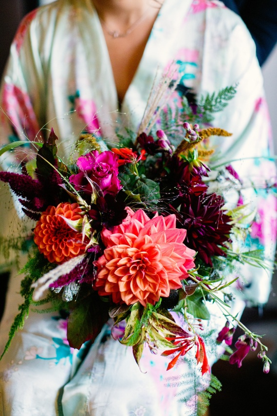 An Autumn Bouquet, Florists Herbert and Isles use Swan Cottage Flowers for the Wedding of Sophie and Richard