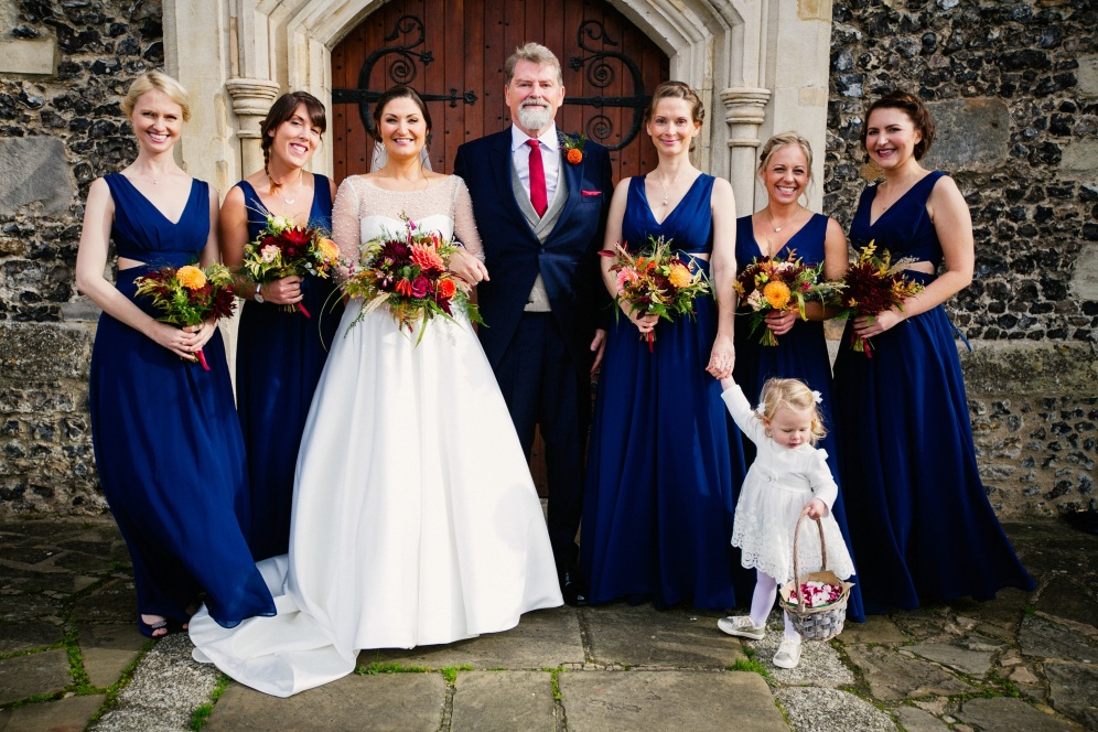 Bridal Flowers, Florists Herbert and Isles use Swan Cottage Flowers for the Wedding of Sophie and Richard