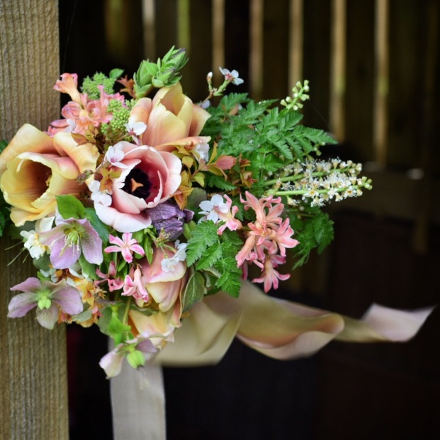 Swan Cottage Flowers Spring Bridal Bouquet