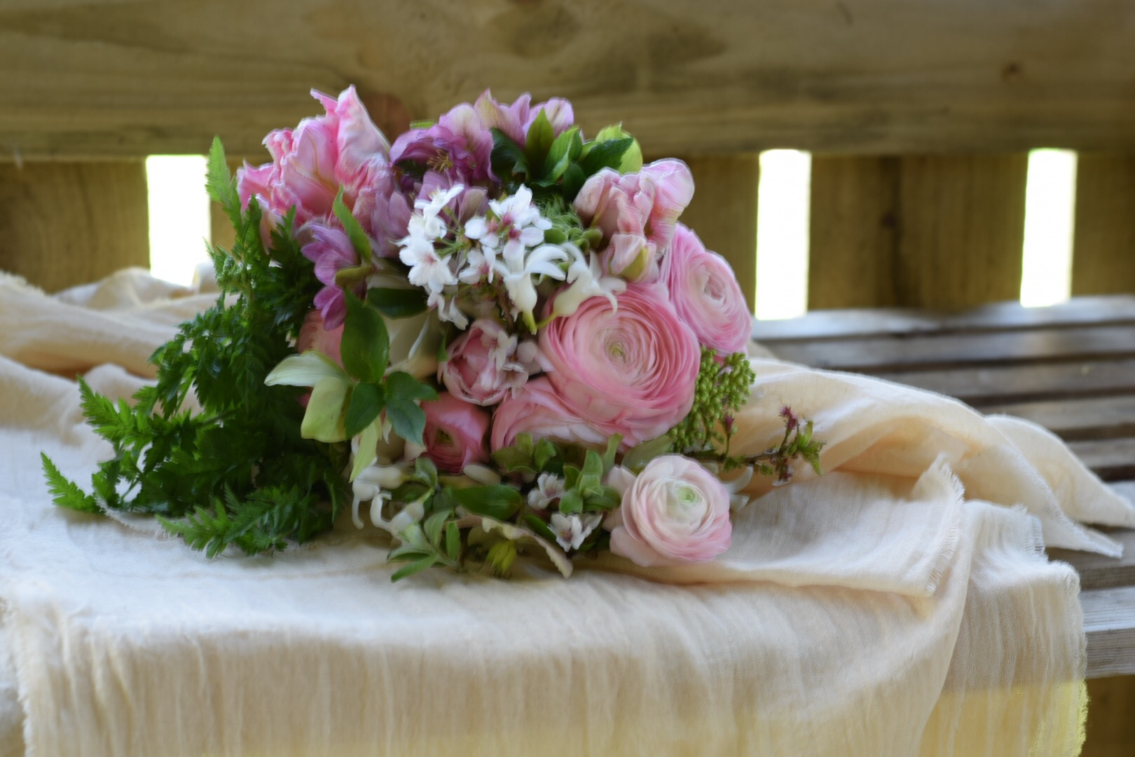 British Spring Seasonal Pink Bouquet Flowers From The Farm Swan