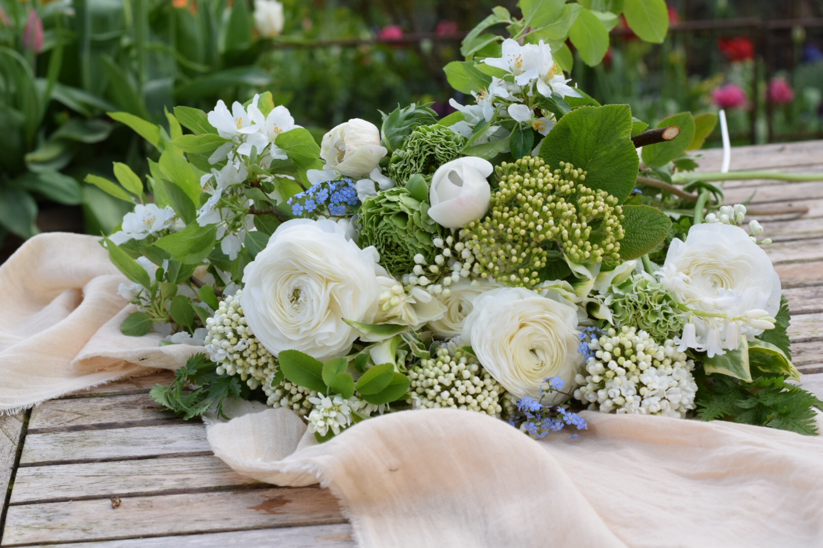 White Spring Seasonal Brides Bouquet British Flower Farm Local And