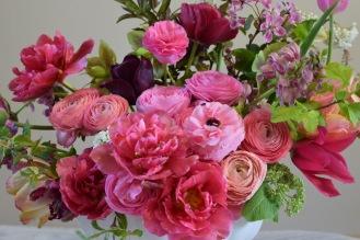 Pink Seasonal Table Arrangement, Flowers From the Farm, British, Local, Seasonal Flowers, Slow Flowers
