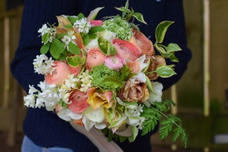 Artisan Spring Bridal Bouquet - Swan Cottage Flowers Buckinghamshire, Bedfordshire, Nothampton, Hertfordshire