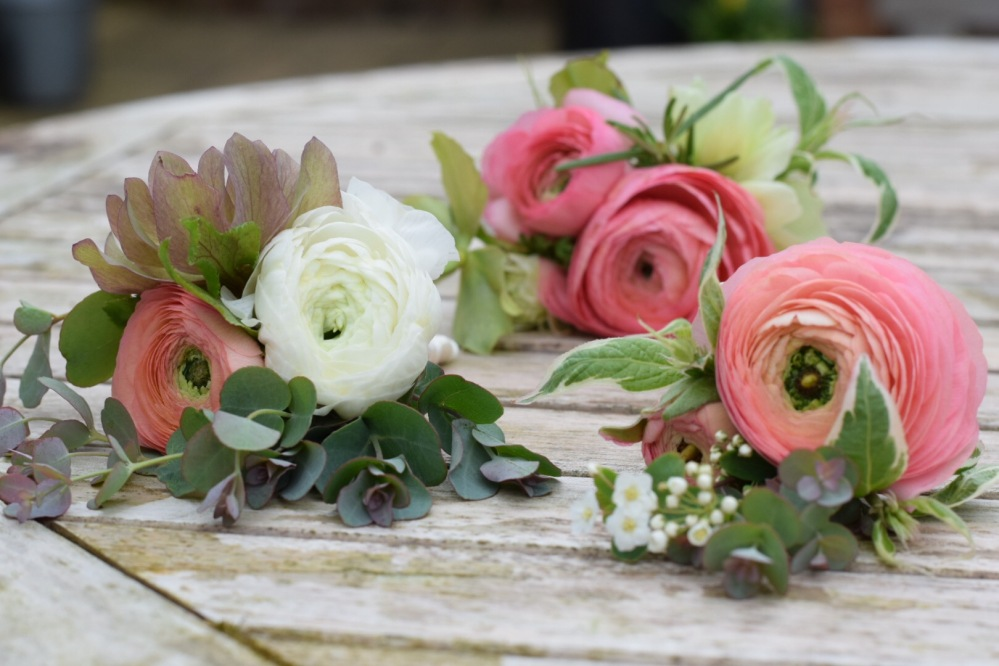 British Flowers, Artisan Buttonholes and Corsages - Swan Cottage Flowers, perfectly seasonal