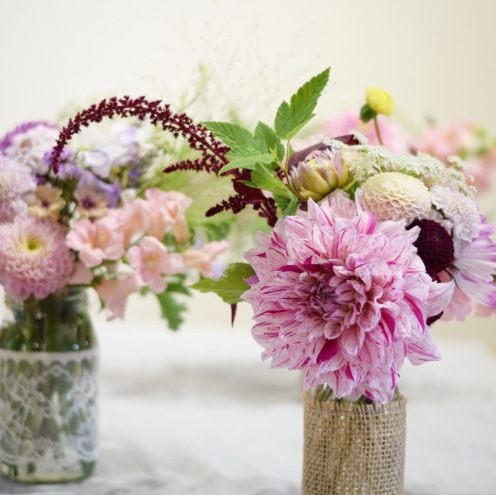 Jam Jar Flowers for Weddings and Events