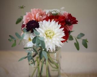 Kilner Jar Flowers for Weddings and Events, Swan Cottage Flowers